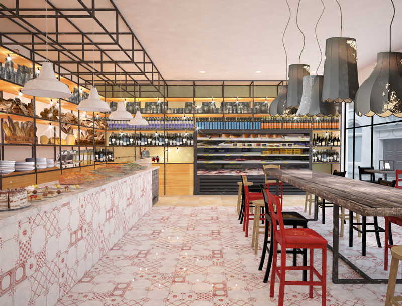 Progettazione retail London restaurants buffet